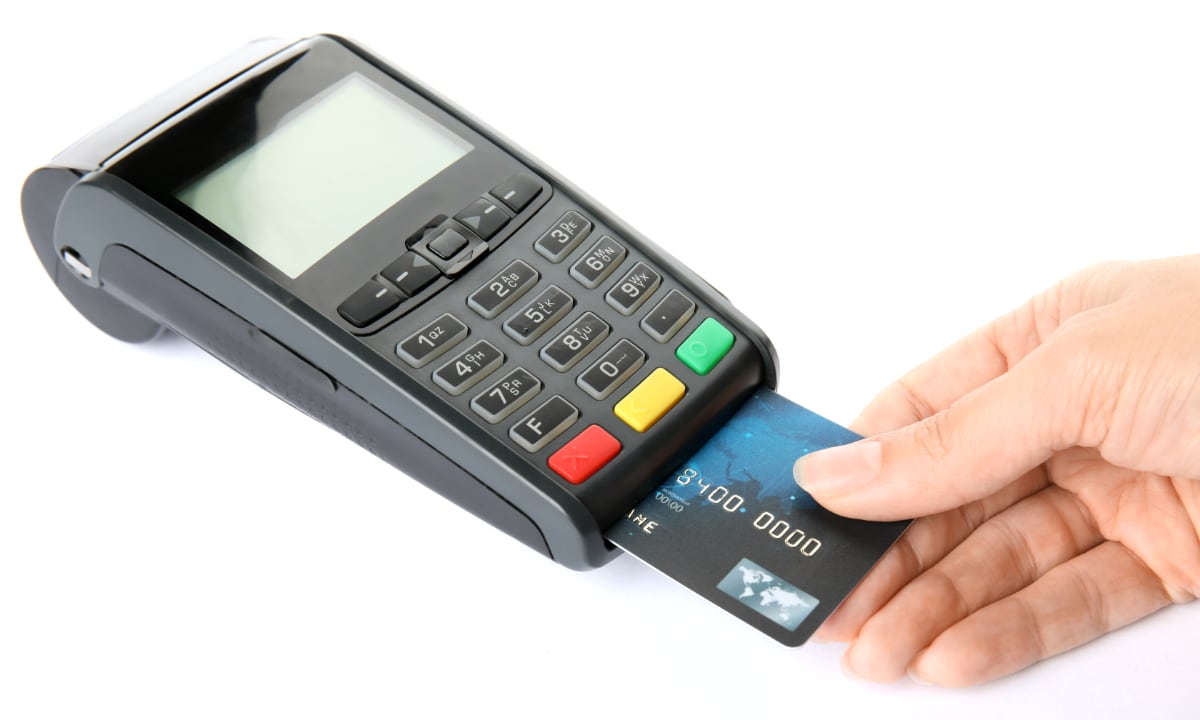 Give the card payment machine a shot